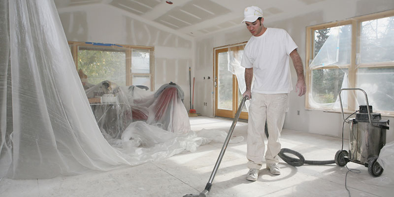 lead a post-construction cleaning team